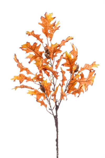 Oak Leaf Acorn Spray - 95cm (Orange)