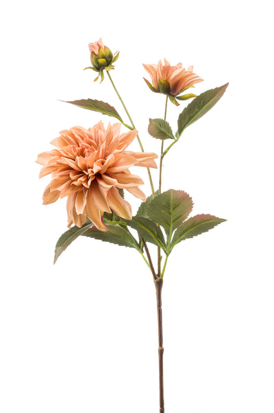 Dahlia Spray - 55cm (Salmon)