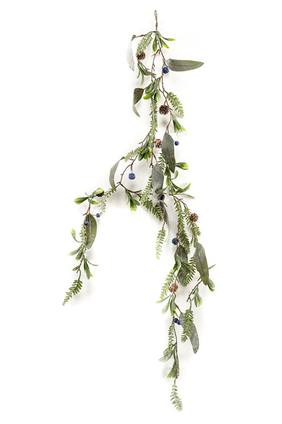 Blueberry Mixed Garland - 1.2m