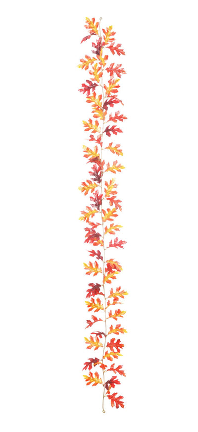 Oak Leaf Autumnal Garland - 1.8m
