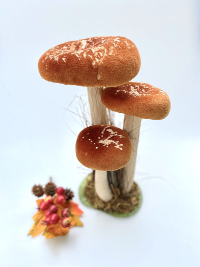 Decorative Autumnal Mushroom in Rust