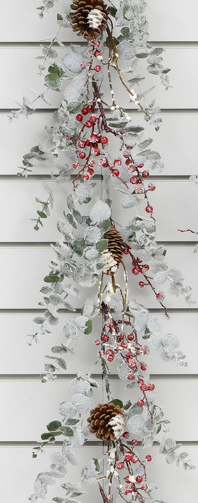 Frosted Eucalyptus Garland - 6ft