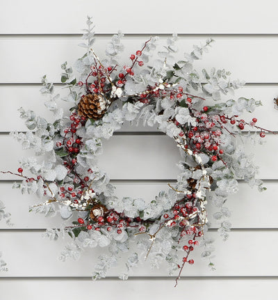 Frosted Eucalyptus Wreath - 50cm