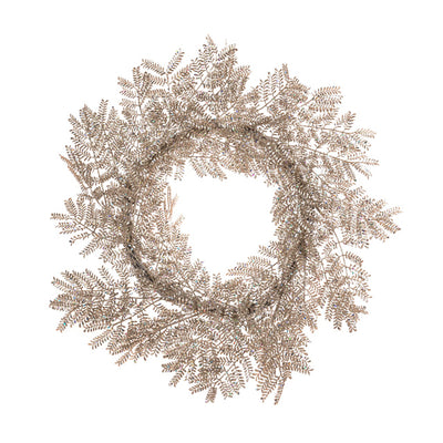 Platinum Mimosa Wreath - 65cm