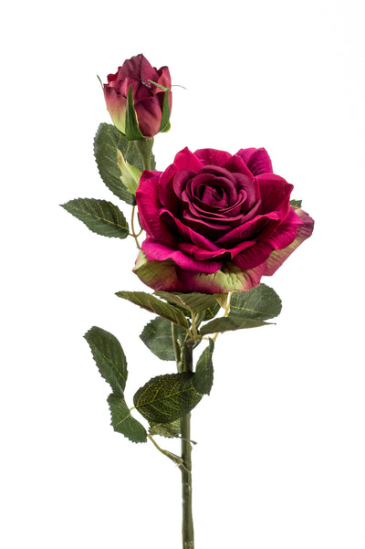 Roby Rose Spray - 47cm (Deep Red)