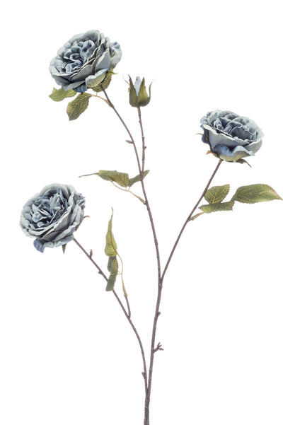 Rose Spray - 80cm (Blue/Grey)
