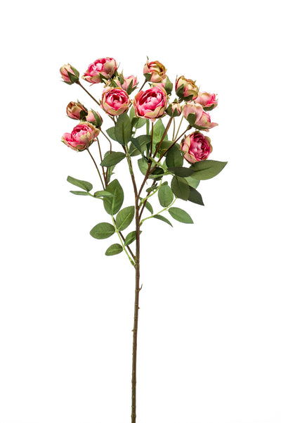 Mini Rose Spray - 57cm (Pink/Green)