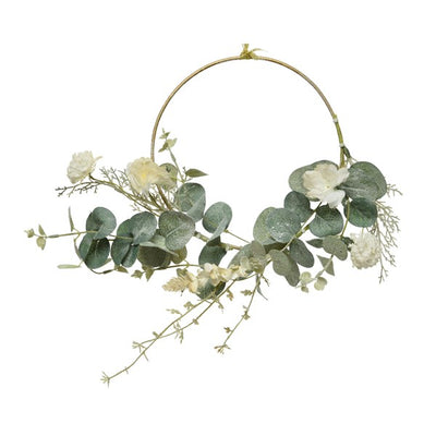Ring Wreath with Floral Detail - 30cm