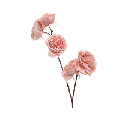 Blush Pink Rose Branch - 58cm