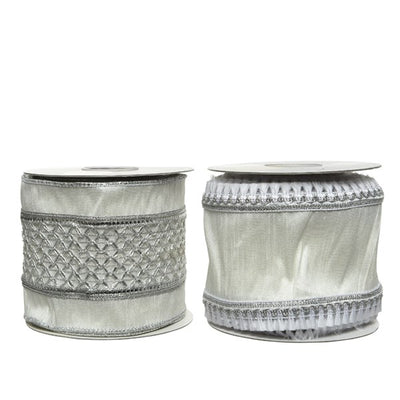 Silver Decorative Ribbon - 5m