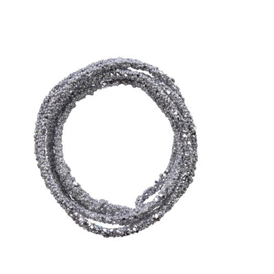Silver Foam Garland with Sparkles - 1.8m