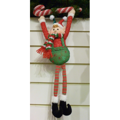Floppy Leg Candy Cane Elf - 50cm