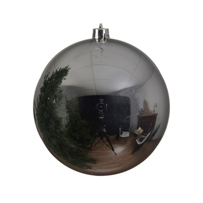 Large Silver Xmas Bauble - 25cm