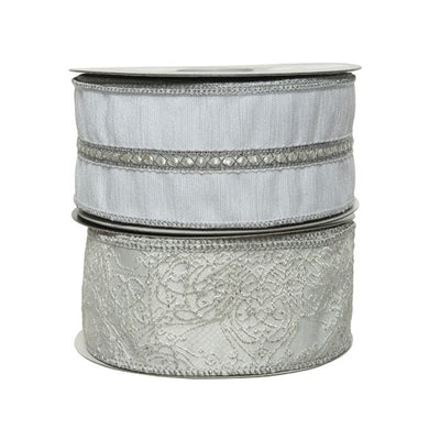 Winter White Decorative Ribbon - 10m