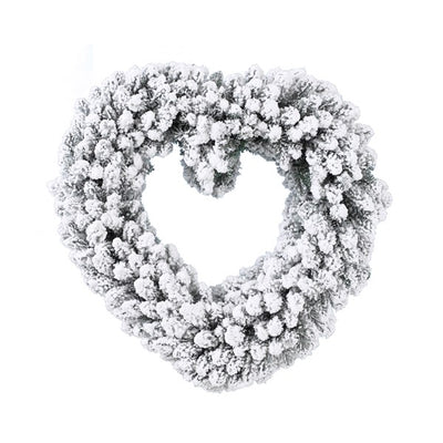 Snowy Heart Wreath - 50cm