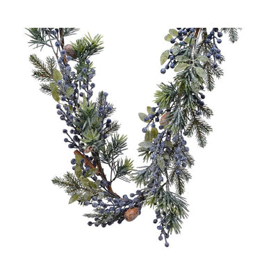 Frosted Blueberry Garland - 1.8m