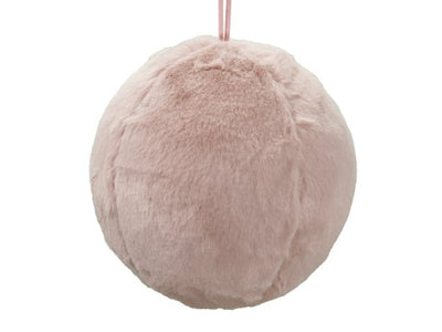 Pink Fabric Bauble - 10cm