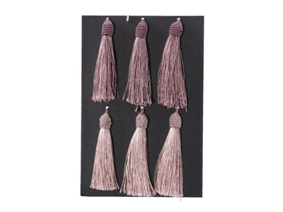 Dark & Light Pink Tassles (Pack of 6)