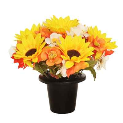 Autumnal Flower Pot - 25cm (Yellow)