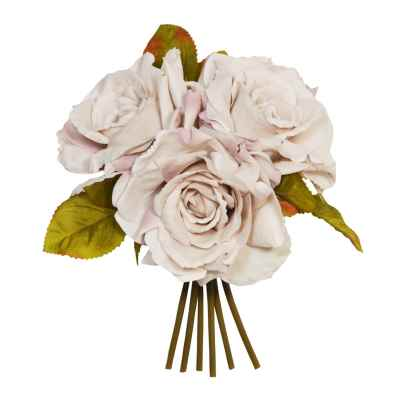 Grey Open Rose Posy - 24cm