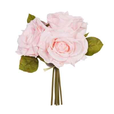Light Coral Open Rose Posy - 24cm