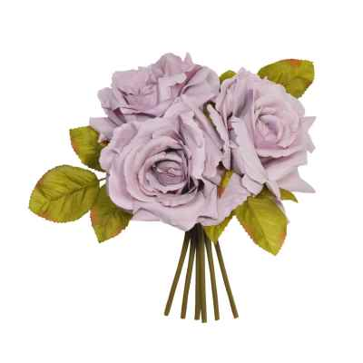 Lilac Open Rose Posy - 24cm