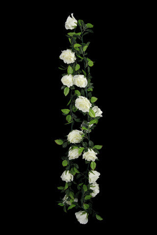 Rose Trail Garland - 2.5m (White)