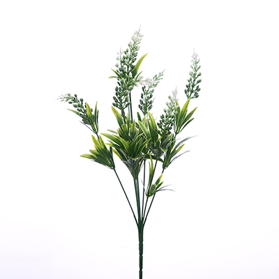 Plastic Astilbe Bush - 40cm (Green/White)