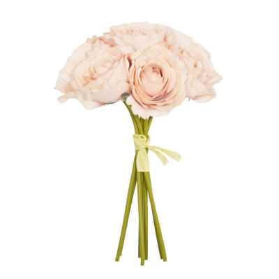 Hand Tied Bisque Open Rose Bundle - 26cm