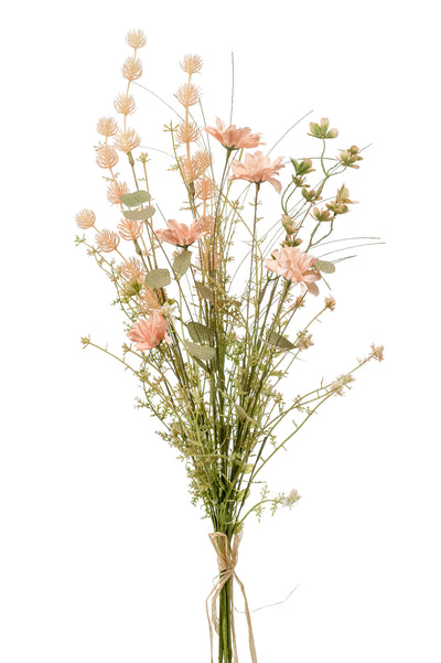 Dry Flower Bouquet - 60cm (Peach/Green)