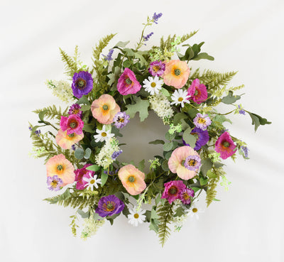 Poppy Garden Wreath - 60cm