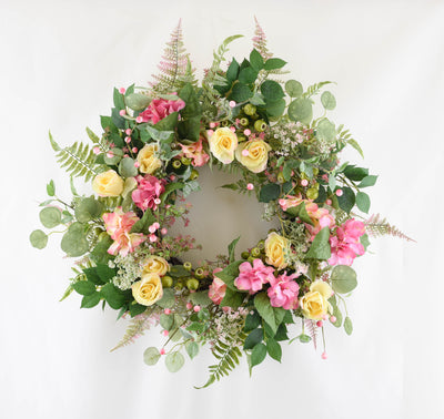 Floral Blossom Wreath - 60cm