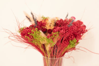 Dried Flower Bouquet - 40cm (Hot Pink)