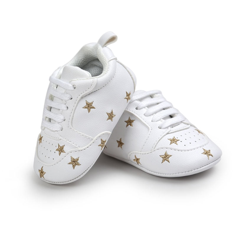 Baby Love and State Pattern First Walkers Kids Toddlers Lace Up Sneakers
