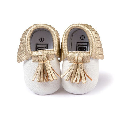 New Fringe Suede Leather Baby Kid Children Soft Soled Anti-Slip Moccasins Soft Shoes