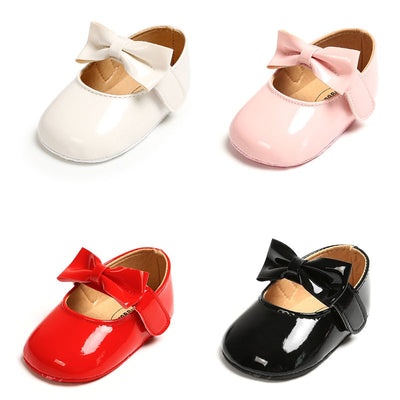 Red Black Pink White Soft Soled Non-slip Crib Shoes