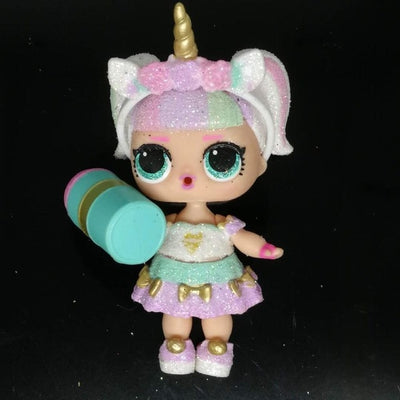LOLs Surprise Dolls Set Original Unicorn 8cm Big Sister Baby Dolls with Clothes Limited Collection Kids Girls Birthday Gift