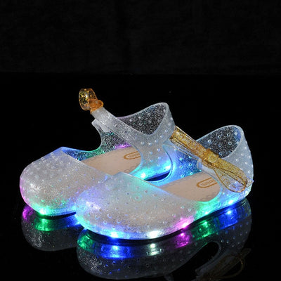 Girls Glowing Jelly Shoes