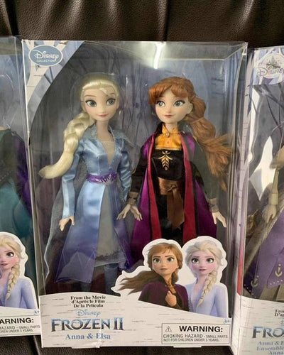 Disney Toys Frozen 2 New Elsa and Anna Princess Doll Toys with Accessories Olfa Sets Girl's Collection Dolls Kids Gifts with Box