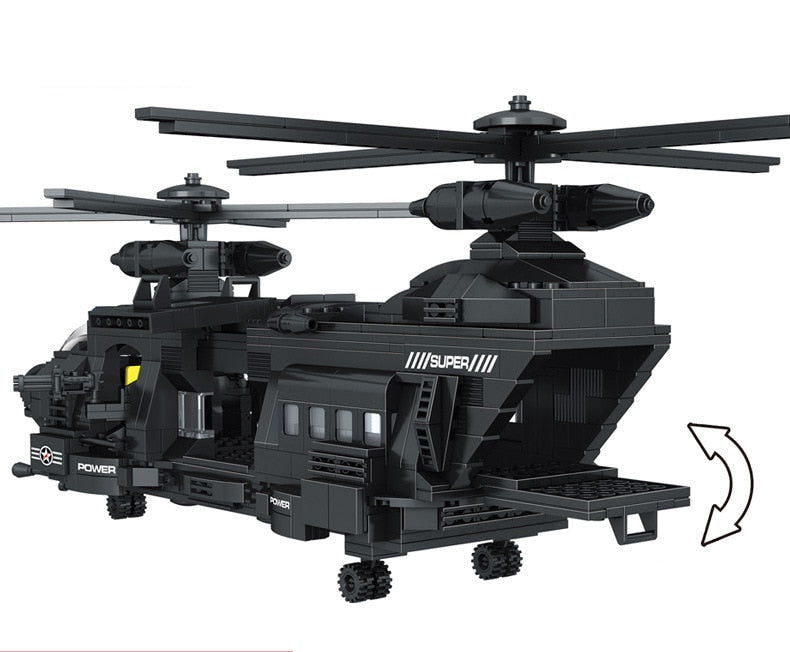 SWAT Team 1351PCS fit  City Police Building Blocks bricks SWAT police solider Transport Helicopter Children Kid Gift Toy