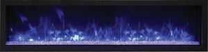 Remii 65″ Wide and Extra Slim Electric Fireplace - Indoor or Outdoor, Built-in only with black steel surround - Expression Fireplaces