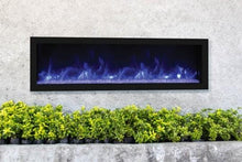 Remii 55″ Wide & 12″ Deep Electric Fireplace - Indoor or Outdoor, Built-in only with black steel surround - Expression Fireplaces