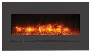 "Amantii 40"" Wide Wall Mount Electric Fireplace with Deep Charcoal Colored Steel Surround - WM-FML-34-4023-STL - Expression Fireplaces"