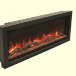 88″ Black Semi-Flush Mount Surround – for WM-34-B  #WM-XS-88 - Expression Fireplaces