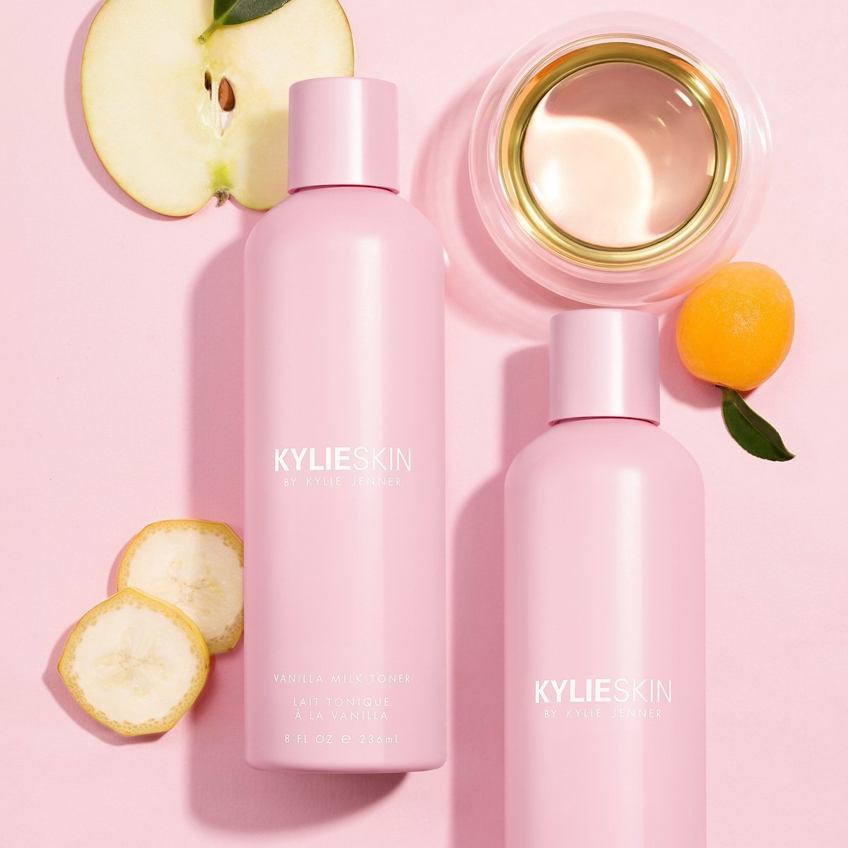 Kylie Skin Vanilla Milk Toner with apple, oil and apricot ingredients