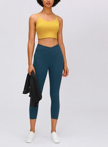 V Waist Solid Leggings 4 Colours