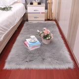 Bedroom carpet Soft fluffy Sheepskin Fur Area Rugs nordic red center living room carpet Bedroom Floor White Faux Fur Bedside Rug