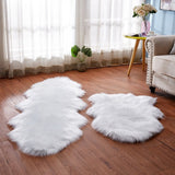 Sholisa Faux Fur Fluffy Carpet Rug Living Room Floor Area Sheepskin for Bedroom 6cm Pile Home Deco