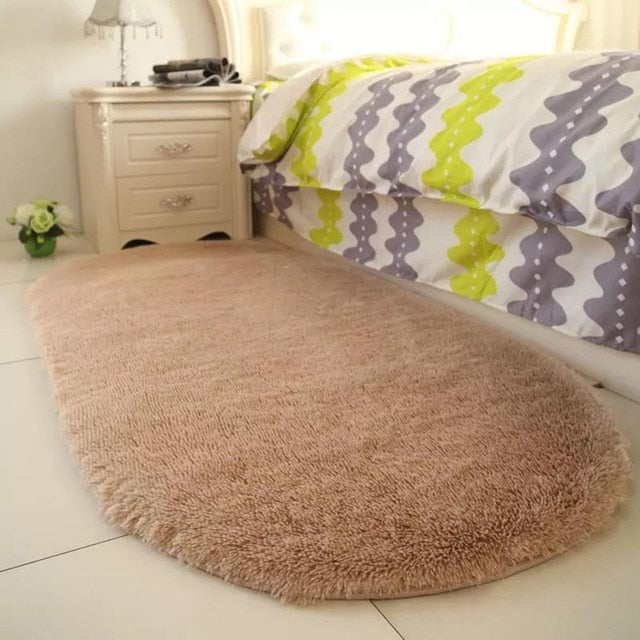 40x60cm Carpet Fluffy Rugs Anti-Skid Shaggy Area Rug Dining Room Carpet Floor Mat Home Bedroom Carpets 45P Alfombra Tapis