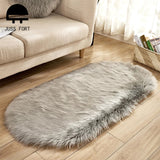 80*180cm Oval Fur Faux Artificial Sheepskin Carpet Washable Seat Pad Fluffy Rugs Hairy Wool Soft Warm Carpets For Living Room